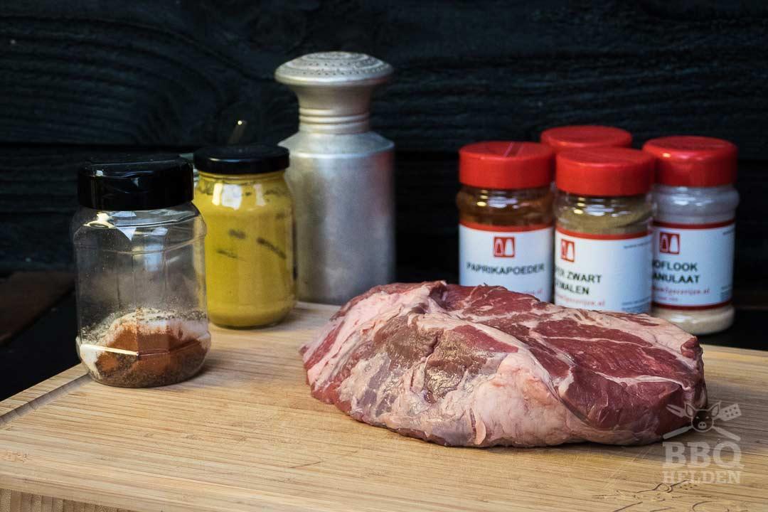 alle ingredienten voor de pulled beef
