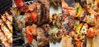Vlees, kip en garnalen op een stokje. De 8 populairste recepten