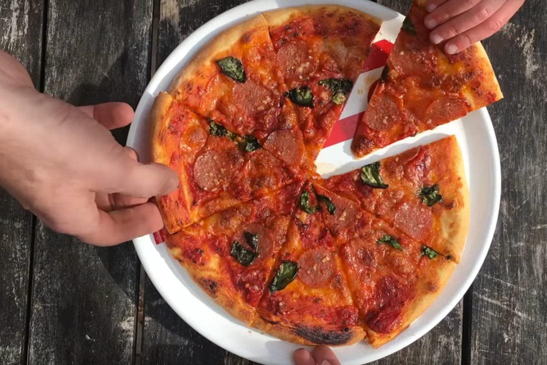 echte pizza van de weber