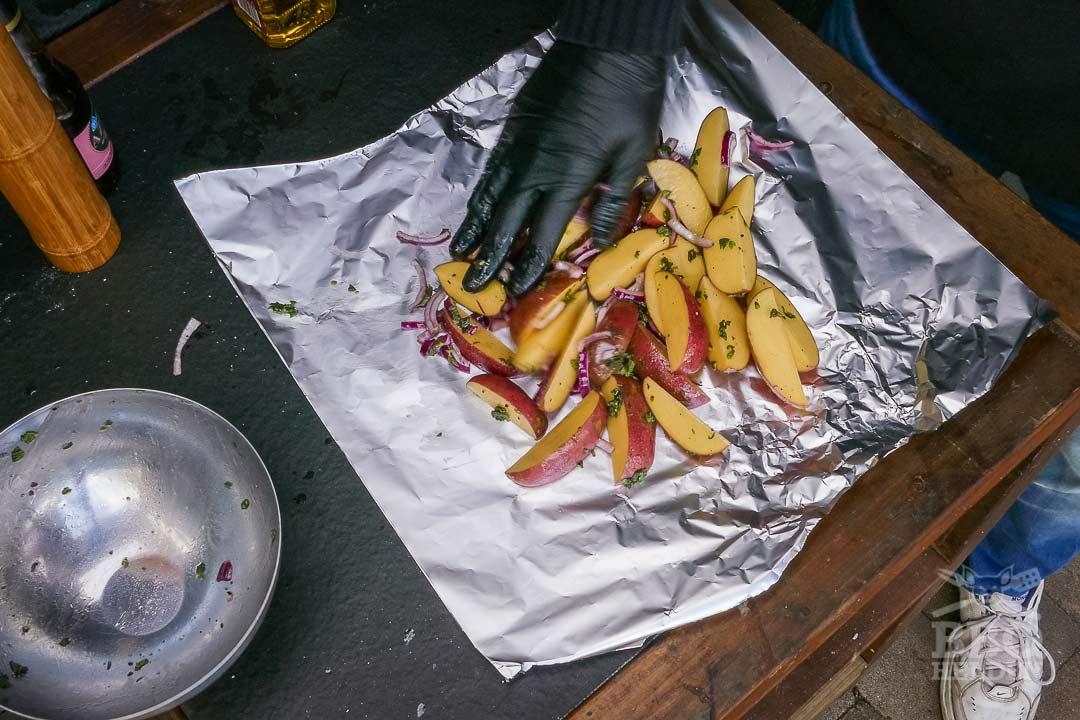 aardappeltjes op de folie
