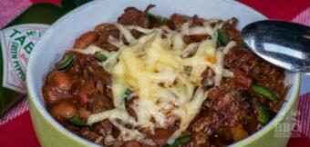 Chili con carne met gerookte ossenstaart