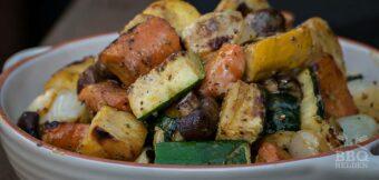 Gegrilde groenten met mosterd dressing