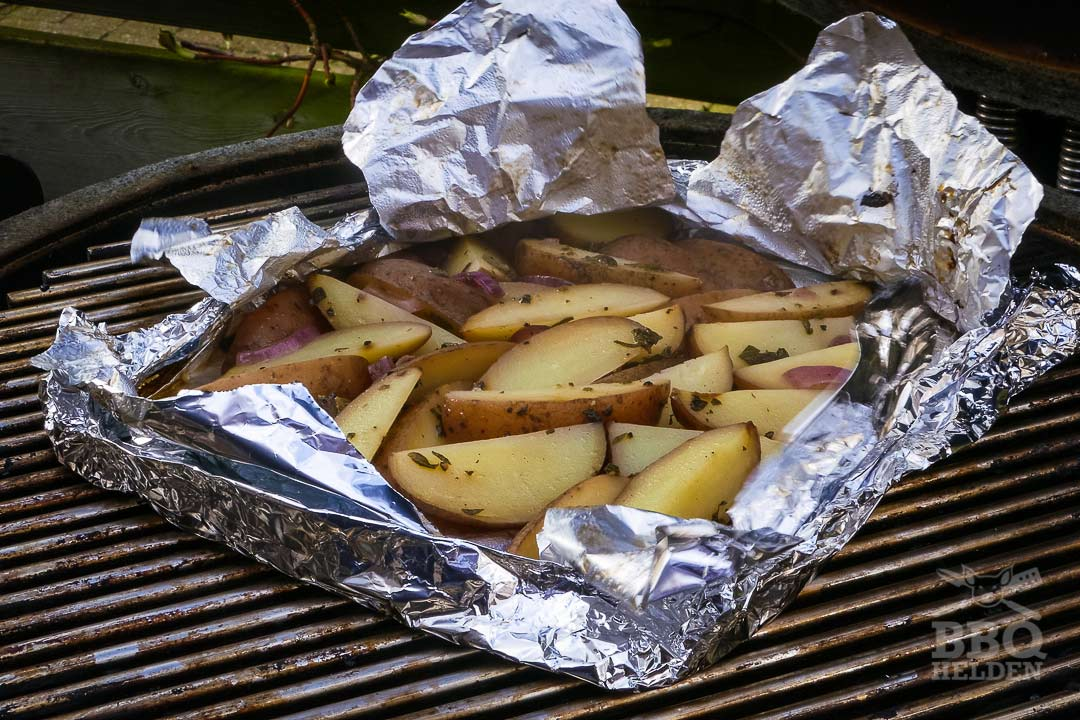 griekse aardappeltjes als de folie open mag
