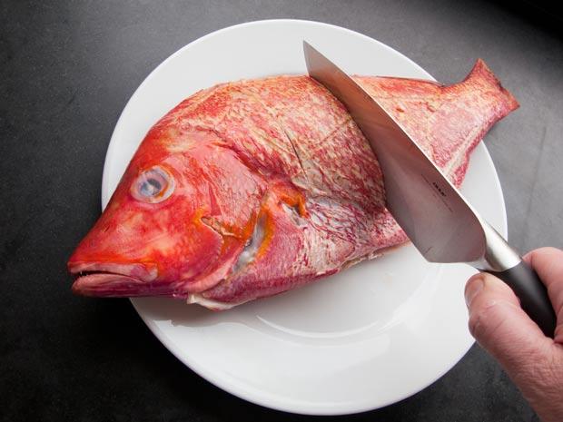 insnijden-van-de-vis