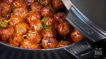 Italiaanse gehaktballetjes in bourbon saus