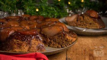 Ondersteboven speculaas peer cake