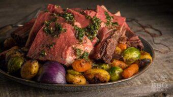 Rib roast met gegrilde groenten