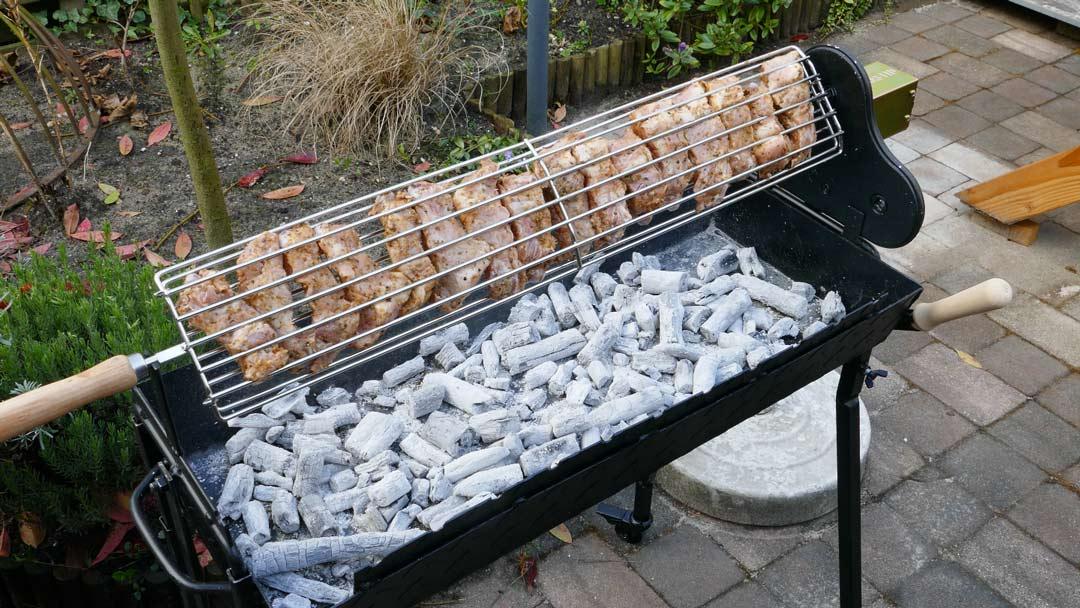 spareribs in het visrooster