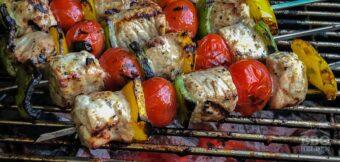Varkens shish kebab